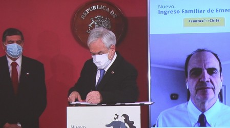Presidente Piñera firma proyecto que aumenta el Ingreso Familiar de Emergencia