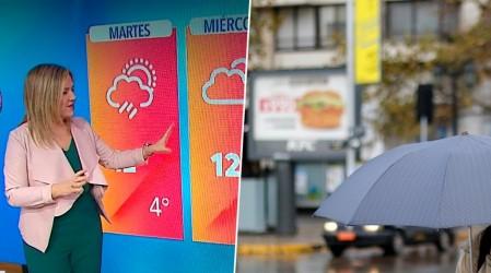 Michelle Adam pronostica posibles chubascos este martes en Santiago