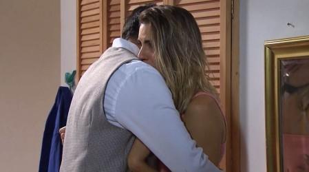 La despedida de Ricardo y Agustina