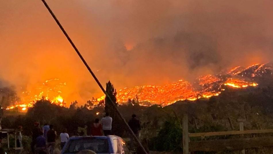 Incendios forestales La Araucanía.