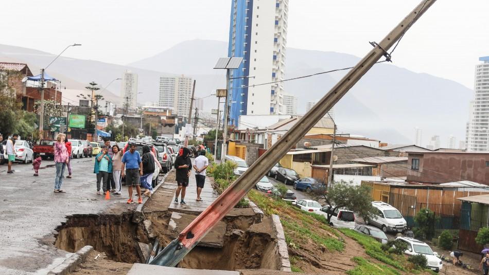 Lluvias en Iquique / AgenciaUno.
