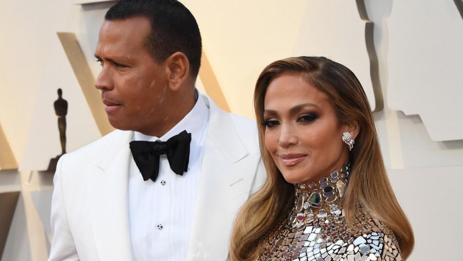 Jennifer Lopez y Alex Rodriguez / AFP