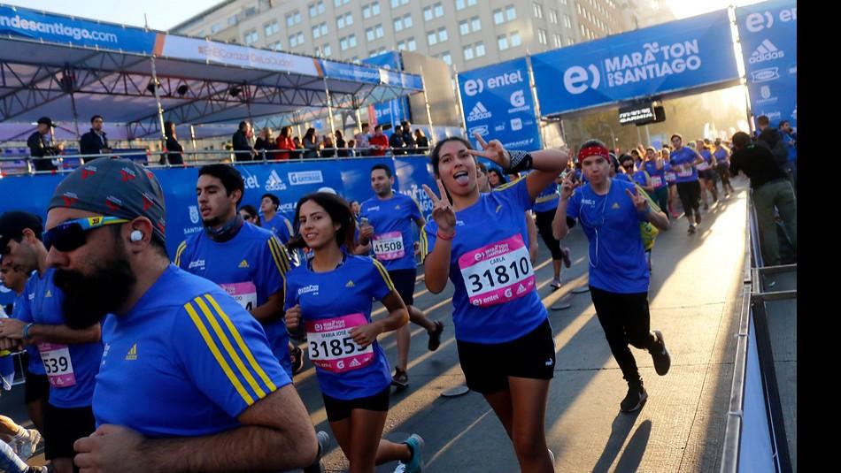 Todo listo para el Maratón Santiago. / Agencia Uno