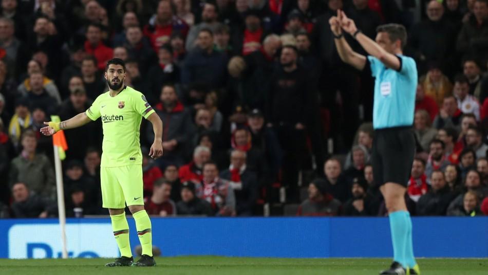 Suárez celebró tras el VAR su gol. / Reuters