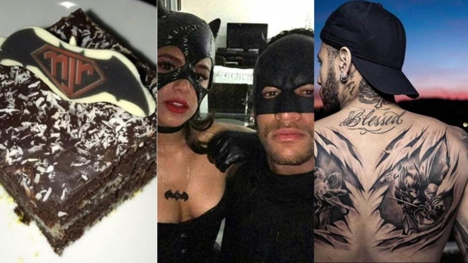 Neymar y su fanatismo por Batman. / Instagram