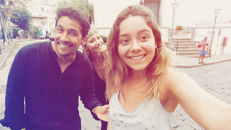 Rafael Araneda, Marcela Vacarezza y Martina Araneda Vacarezza / Instagram @martinaaraneda
