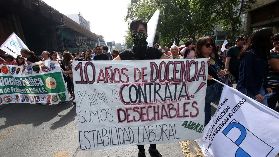 Colegio de Profesores realizará Protesta Nacional Docente este martes 23 de abril / Agencia UNO.