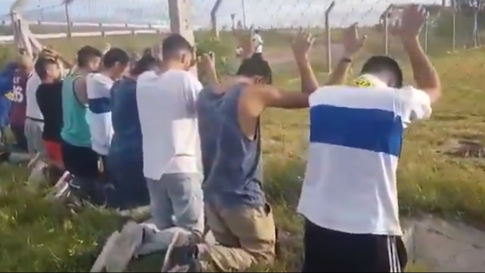 Hinchas cruzados detenidos en Rosario. / Captura
