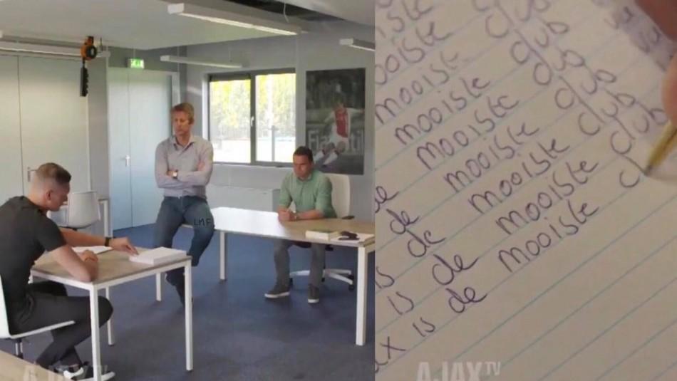 Así fue el castigo a la nueva figura del Ajax. / Instagram