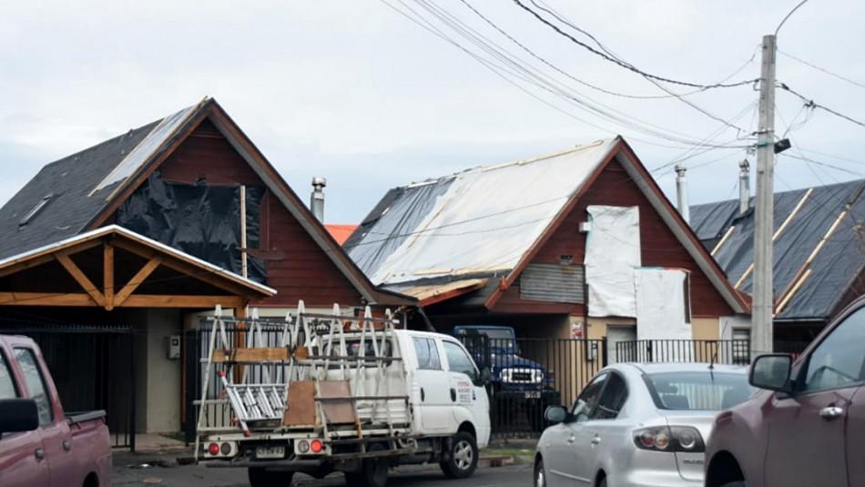 Hasta más de $22 millones: Los subsidios para los damnificados por paso de tornados en el Biobío
