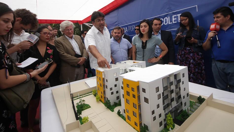 Daniel Jadue por inmobiliaria popular: