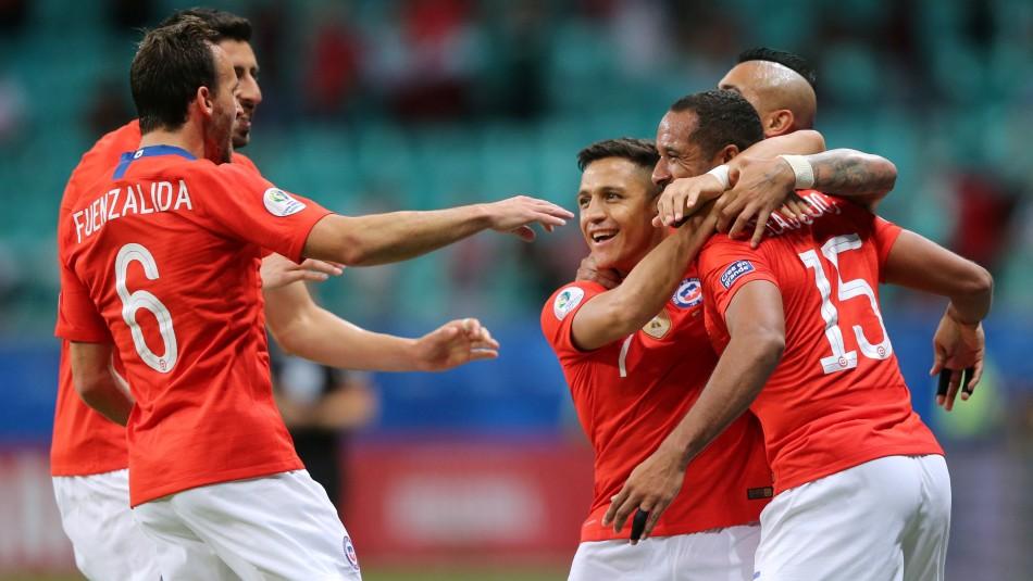 Chile volvió a celebrar en la Copa América. / Reuters