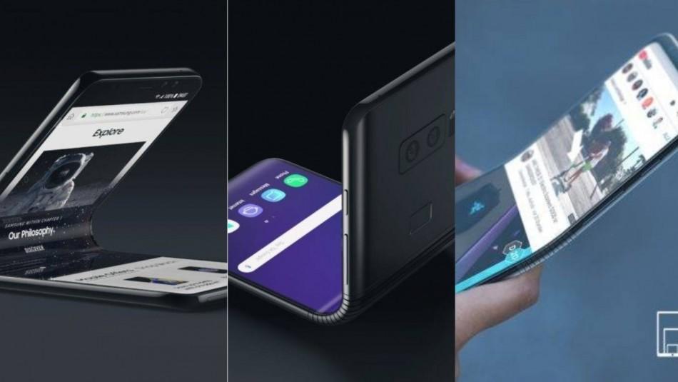 Así luciría el teléfono plegable de Samsung. / Nieuwemobiel