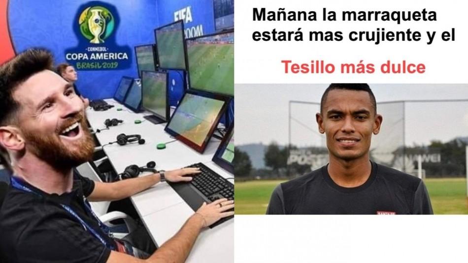 Los memes del duelo Chile vs. Colombia. / Captura