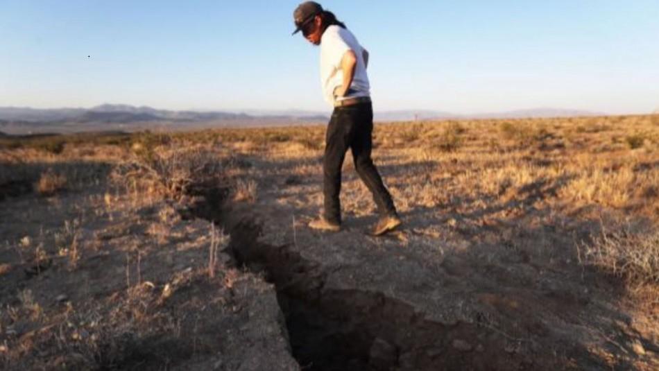 Así se ven desde el espacio las enormes grietas que dejó el terremoto en California