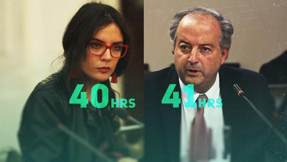 ¿40 ó 41 horas semanales?: Paralelo de los proyectos de Camila Vallejo y el Gobierno