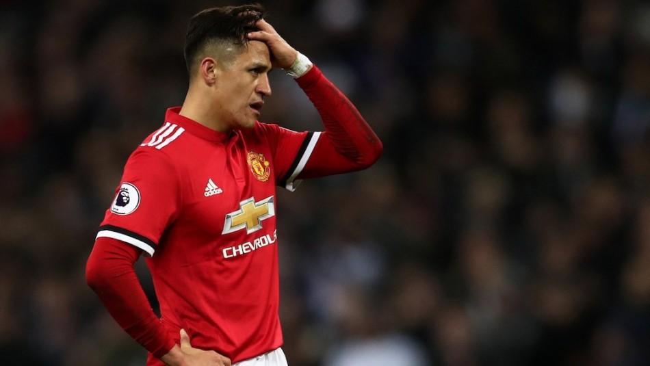 Alexis Sánchez se enojo en el Manchester United.