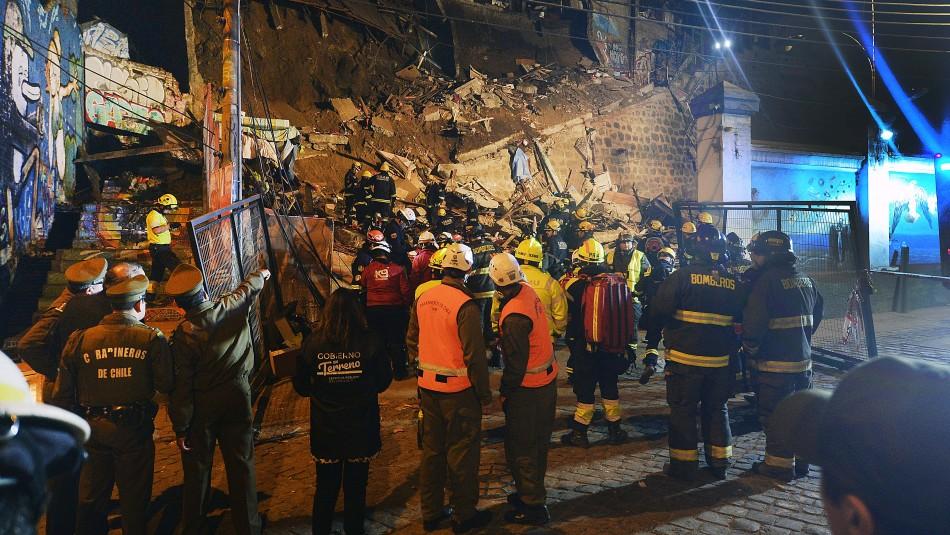 Familia de vivienda derrumbada en Valparaíso se iba a cambiar de casa este viernes