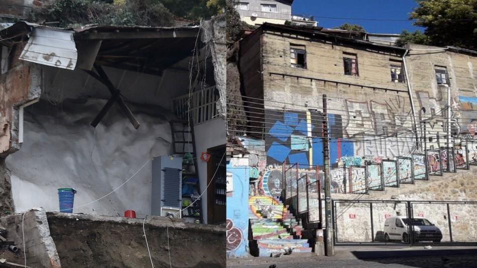 Así lucía la casa del cerro Bellavista antes del derrumbe en Valparaíso
