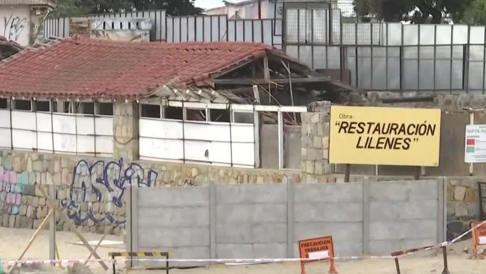 Muro en playa Los Lilenes genera indignación entre vecinos de Concón