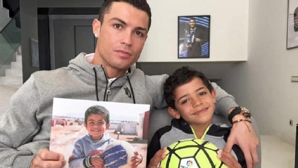 Cristiano Ronaldo sorprendido por reacción de su hijo.