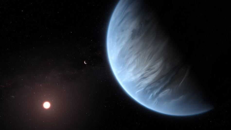 Descubren agua en atmósfera de lejano planeta potencialmente habitable