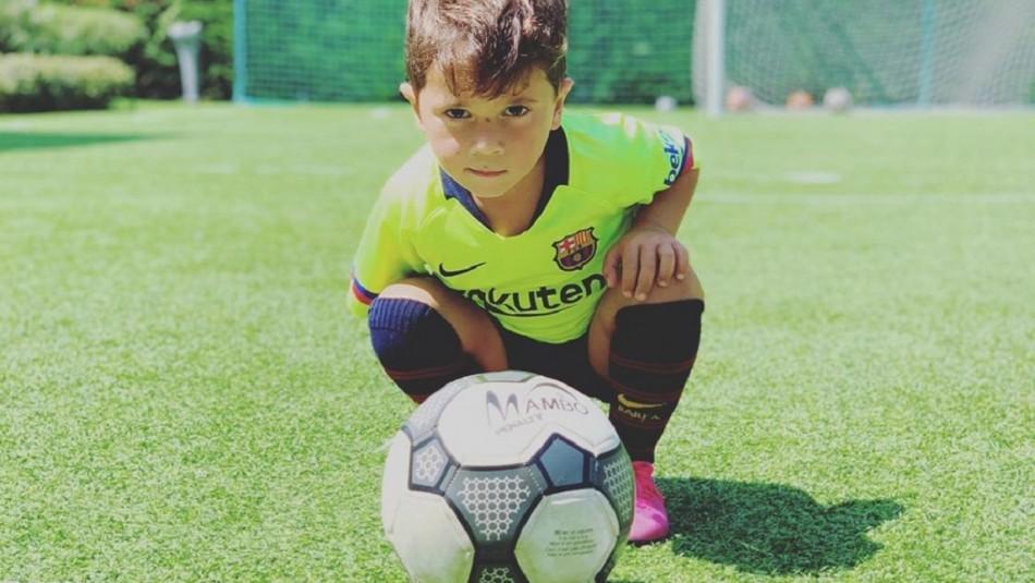 Mateo Messi celebra su cumpleaños.