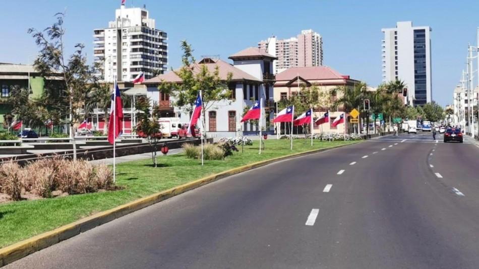 Municipio de Antofagasta instaló 250 banderas en la costanera: Se las robaron todas