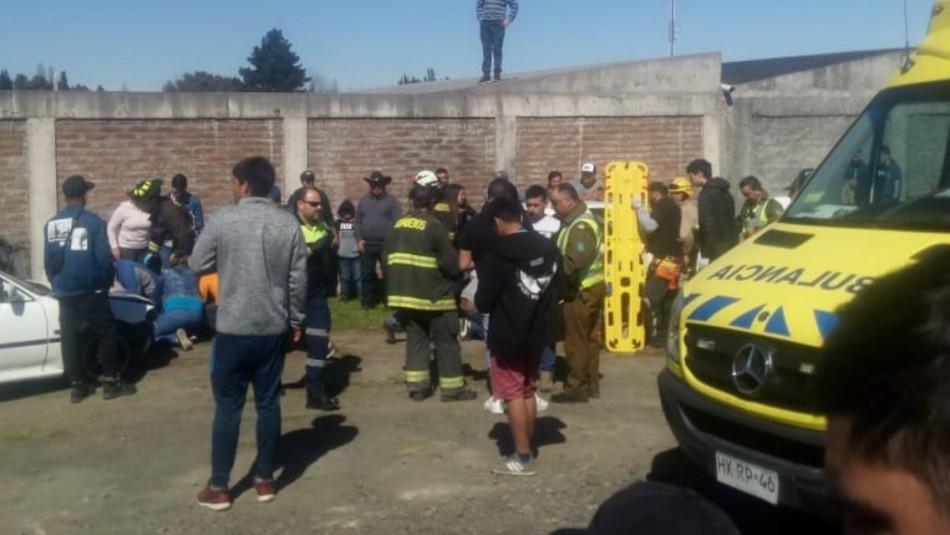 Cuatro personas heridas tras ser atropelladas durante carrera de autos en Cabrero