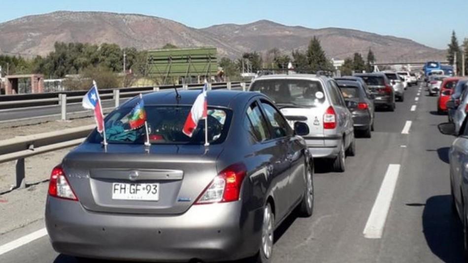 Usuarios reportan alta congestión en algunas carreteras de Chile