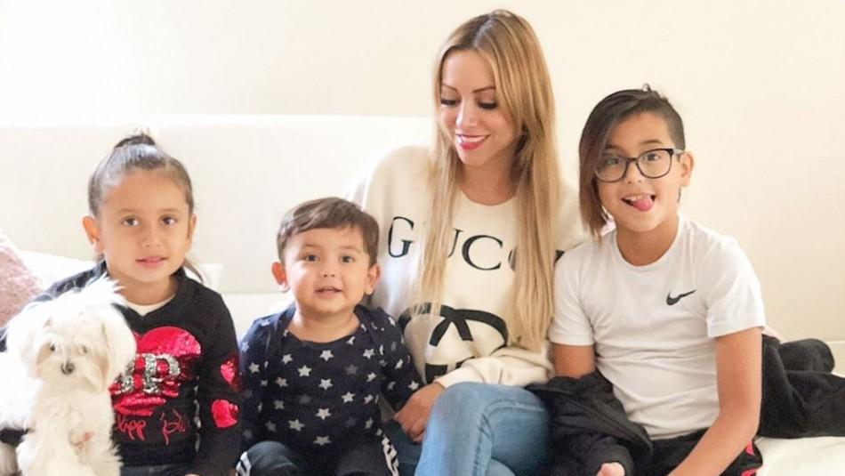 Marité Matus y sus hijos.