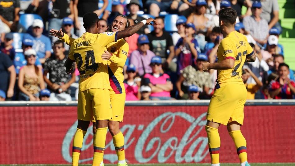 Barcelona derrota a domicilio al Getafe con Vidal en la banca todo el partido