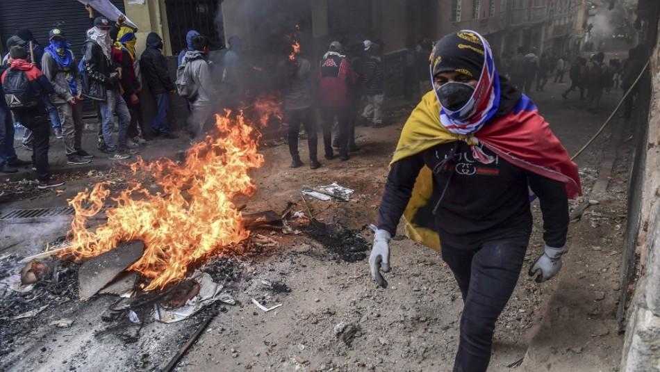 Estado de excepción en Ecuador: Marcha indígena termina con violentos enfrentamientos