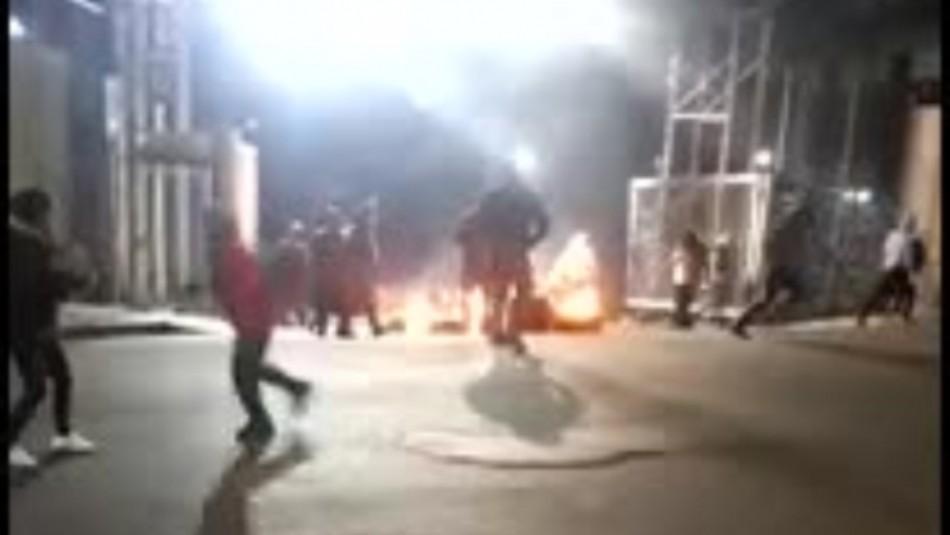 Manifestantes intentan realizar saqueos en Zona Franca en Iquique
