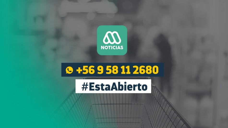 #EstáAbierto: Revisa los locales que están abiertos durante el Estado de Emergencia