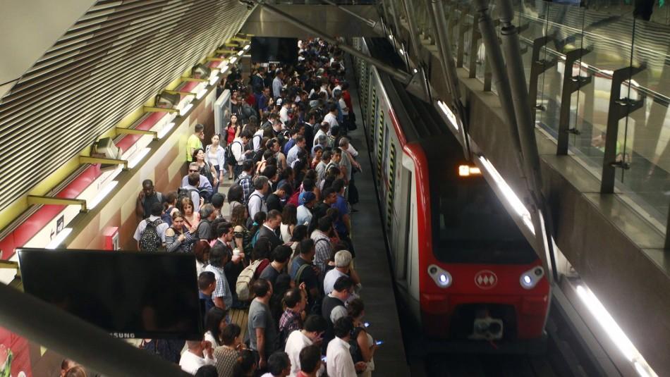 Funcionamiento del Metro de Santiago para este jueves.