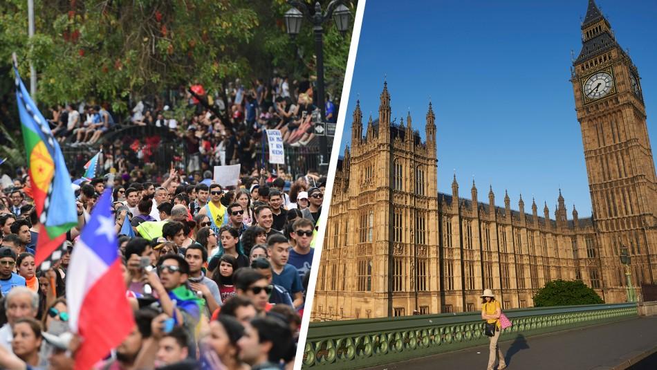 Parlamentarios británicos apoyan investigar denuncias de violaciones a los DD.HH. en Chile