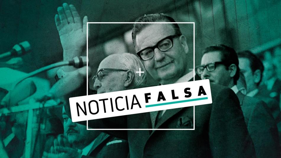 La falsa frase en que Allende asegura que la objetividad