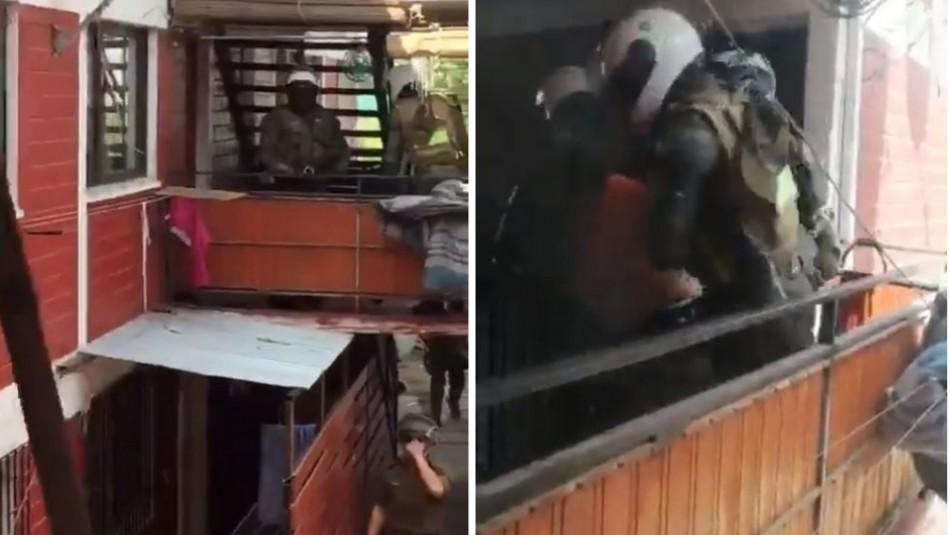 Denuncian violenta detención de carabineros en departamentos de Lo Hermida