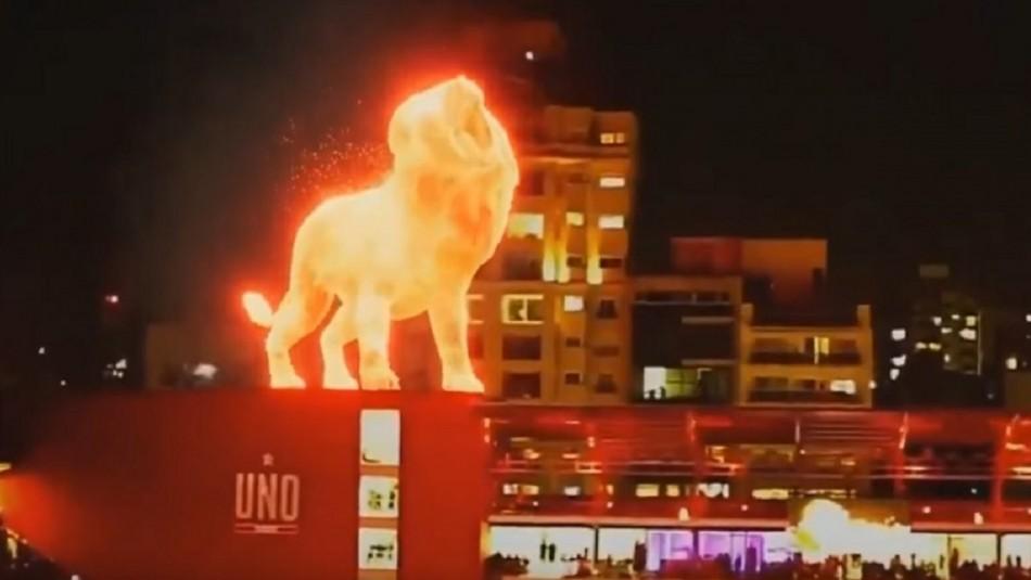 León de Fuego da que hablar en estadio de Estudiantes.