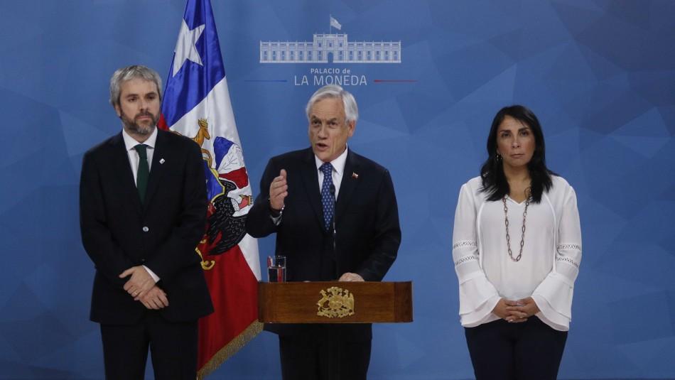 Presidente Piñera convoca a los chilenos a acuerdos por la paz, por la justicia y por una nueva Constitución