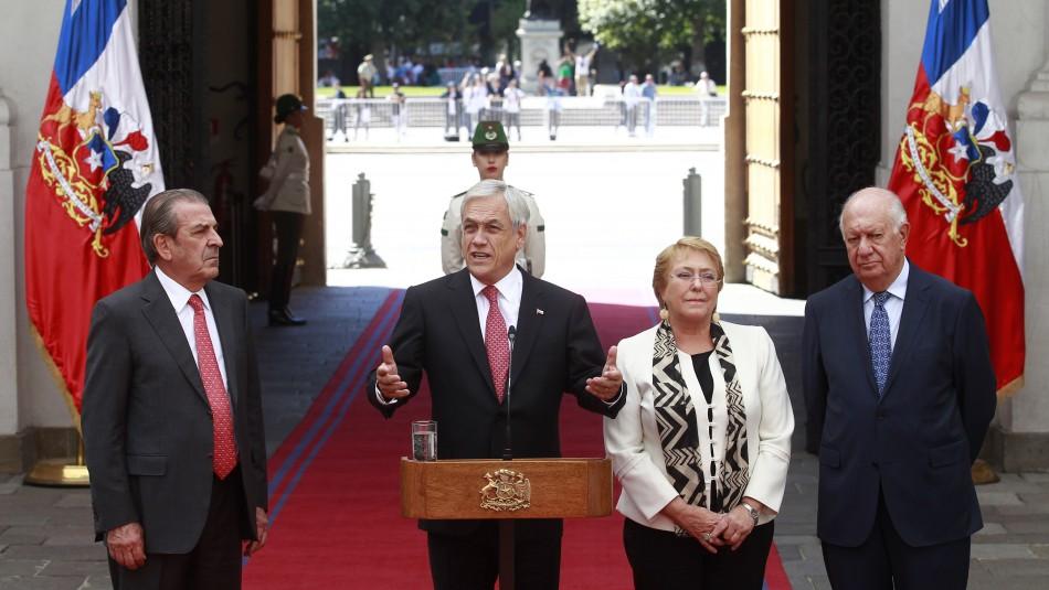 Piñera habló por teléfono con Bachelet y se reunió con Lagos y Frei