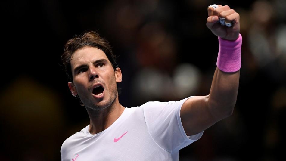 Rafael Nadal revirtió un 5-1 y venció al ruso Medvedev en el Torneo de Maestros de Londres