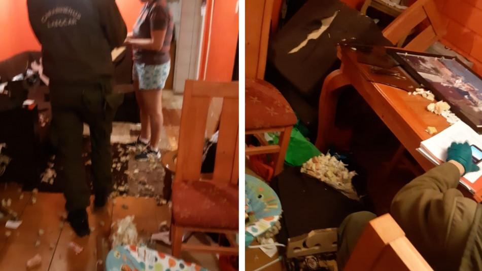 Sujetos ingresan a domicilio de carabinera e intentan sustraer a su hijo de cinco meses