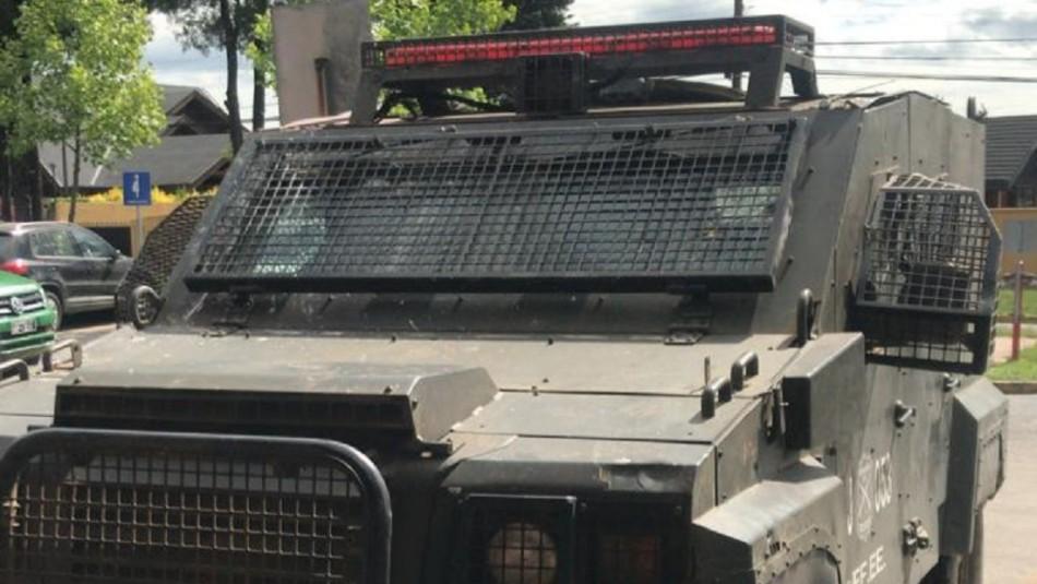 Al menos dos funcionarios resultan heridos tras ataque a vehículo blindado de Carabineros en Ercilla