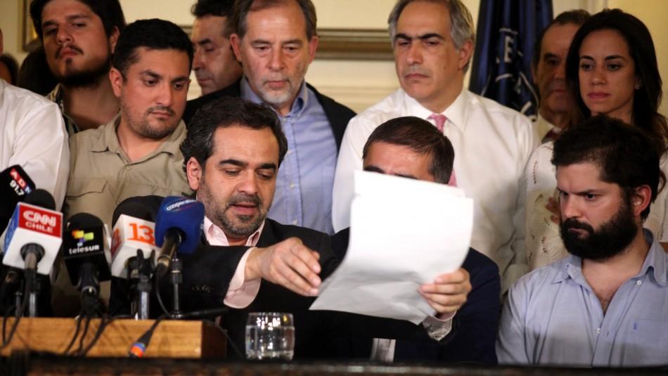 Este es el acuerdo para la creación de la nueva Constitución