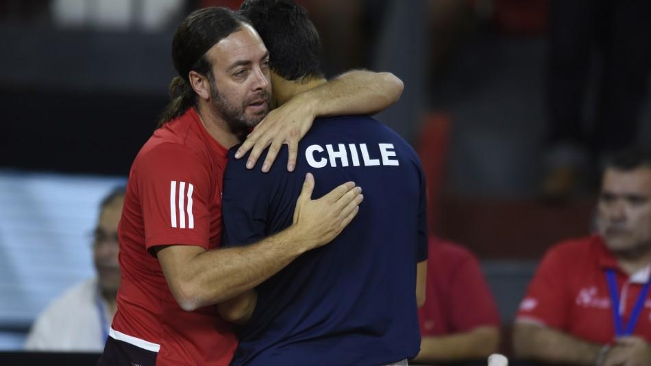 Equipo de Copa Davis y su mensaje Chile.