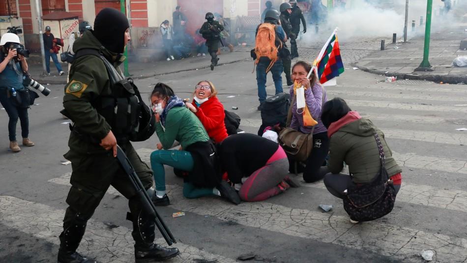 Cinco personas mueren durante manifestaciones en Bolivia
