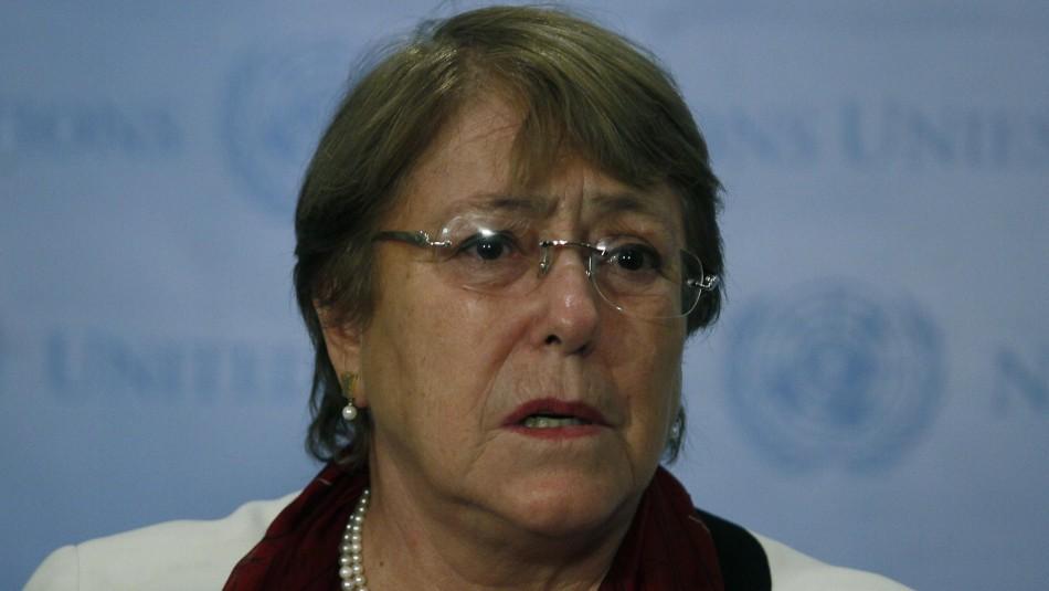Michelle Bachelet alerta sobre situación en Bolivia y asegura que