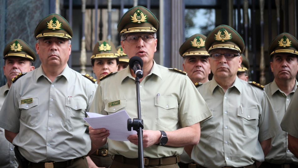 General de Carabineros: Cuestiona estudio sobre perdigones y se refiere a muerte de joven en Plaza Italia